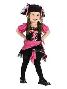 Pink Punk Pirate Toddler Costumeclass=