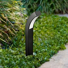 "Curved Black 19 1/4""-H Low Voltage LED Landscape Path Light"