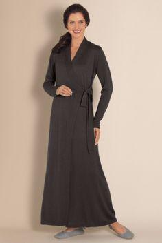 Silk Cashmere Robe - Misses Size Bath Robes, Misses Sleepwear | Soft Surroundings
