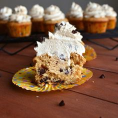 See Brooke Cook: Chocolate Chip Cookie Dough Cupcakes