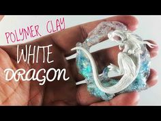 White sleeping dragon resin & polymer clay tutorial