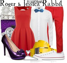Inspired by Roger and Jessica Rabbit from Who Framed Roger Rabbit? (via Disneybound) #Couples