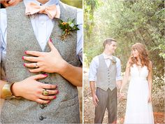 James & The Giant Peach Wedding: Tweed groom looks
