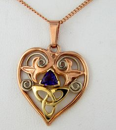 Heart Knot Necklace in Gold Jewelry Pendants and Products