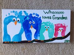 48 Super Ideas birthday crafts for kids grandma footprint art Baby Footprint Art, Footprint Crafts, Birthday Gifts For Grandma, Grandma Gifts, Presents For Grandma, Happy Birthday, Baby Crafts, Diy And Crafts, Kids Crafts