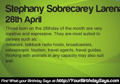 What your Birthday says about your career @yourbirthdaysays.com #PersonalityType #Apps