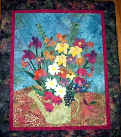 Floral Quilt Show | ... garden quilt raffle quilt made for new mexico car show my first quilt