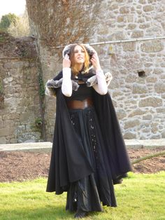 Elegant outfit cloak + hooded cap made of wool and fur by FeeFilochee on Etsy https://www.etsy.com/listing/493104606/elegant-outfit-cloak-hooded-cap-made-of