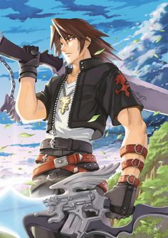 If Final Fantasy 8 was an anime, Squall would probably look like this