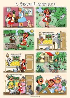 O červené Karkulce Fairy Tale Activities, Language Activities, Activities For Kids, Sequencing Pictures, Story Sequencing, Creative Teaching, Teaching Kids, Projects For Kids, Crafts For Kids