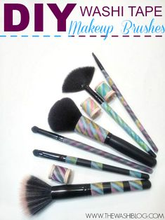 Washi Tape Makeup Brushes