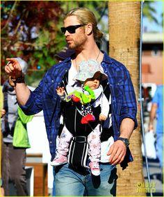 Chris Hemsworth Holding Babies
