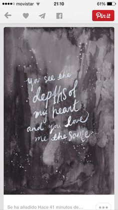 You see the depths of my heart