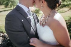 Matt Shumate Photography at Lawson Gardens outdoor summer wedding bride and groom up close kiss romantic portrait