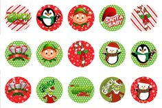 Free Christmas bottle cap images BCI's