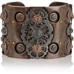 See this and similar Bottega Veneta bracelets & bangles - Bottega Veneta Oxidized and rose gold-plated sterling silver cuff, Bottega Veneta's oxidized and rose...
