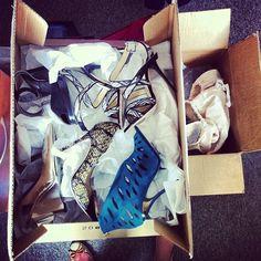 """23 kedvelés, 3 hozzászólás – Karolina Tomaszewicz-Kôteleky (@karolinatomaszewicz) Instagram-hozzászólása: """"New stock in town, many boxes in da office @harpersbazaarpolska #shoes #s/s #waitingformore…"""""""