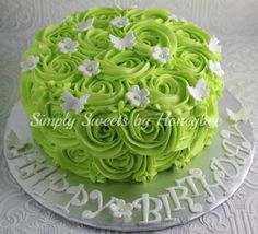 How do the rose design in icing video Simply Sweets by Honeybee: Rose Swirl Birthday Cake