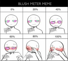 i achieved the unwatermarked version of my blush meter meme, even tho I'm not the creator of the meme template so here's a repost because… Drawing Meme, Ship Drawing, Drawing Ideas, Art Style Challenge, Drawing Challenge, Art Drawings Sketches, Cute Drawings, Dark Art Illustrations, Drawing Face Expressions