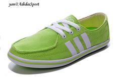 543b79665316d Baratas Online Adidas NEO EZ Sail Lona para Mujer Zapatos Casuales Tierno  Verde Blanco Outlet Venta