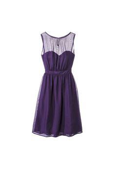 Brides.com: Affordable (and Stylish!) Bridesmaid Dresses Under $100 . TEVOLIO women's chiffon illusion sleeveless dress, $69.99, Target  See more illusion bridesmaid dresses.