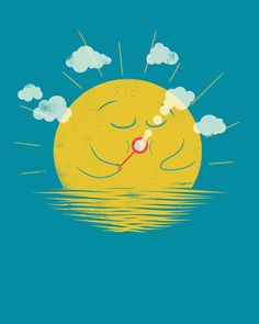 Partly Cloudy by Jay Fleck design-typography-graphic-design-illustration Art Mignon, Ideias Diy, Art Et Illustration, Art Graphique, Art Design, Graphic Design, Cute Cartoon, Cartoon Art, Cute Art