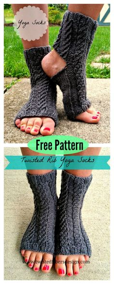 Yoga Socks Free Knitting Pattern