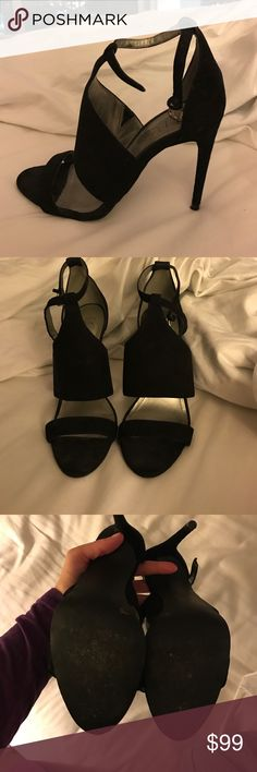 BCBG Black Suede heels Great condition worn only twice! BCBG Shoes Heels
