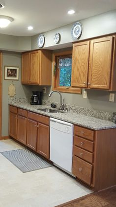 Best Granite To Tie Together Oak Cabinets And White