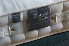 Lush mattress on Duck Egg bed base