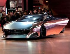 The Peugeot Onyx concept car is eye catching and modern in design and this chrome finish completes the futuristic look.  We need to see this on the roads. #spon. Take a look.