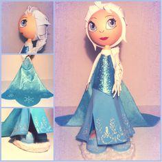 Fofucha: Elsa, de la pelicula Frozen de Disney