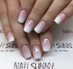 Ombre nail designs for this year 013 – The Best Nail Designs – Nail Polish Colors & Trends Gelish Nails, Nail Manicure, My Nails, S And S Nails, Nail Lacquer, Nail Polish, Trendy Nails, Cute Nails, Ombre French Nails