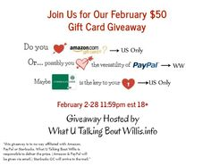 Enter to Win a $50 Gift Card