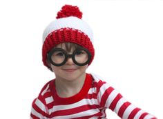 They FOUND ME!  giggles WALDO COSTUME!  Repeat Crafter Me: Waldo Crochet Hat Pattern and Costume