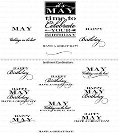 Birthday Classics: May Mini Stamp Set