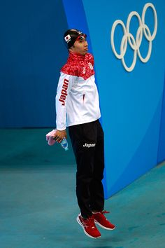 #RIO2016 Kosuke Hagino of Japan preapres to compete in the first Semifinal of the Men's 200m Individual Medley on Day 5 of the Rio 2016 Olympic Games at the...