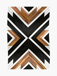 """""""Urban Tribal Pattern 1 - Concrete and Wood"""" Photographic Print by ZoltanRatko Wood Wall Decor, Diy Wall Art, Wood Wall Art, Wood Walls, Barn Quilt Patterns, Wall Patterns, Rattan Lampe, Ethno Style, Wood Mosaic"""