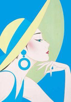Ichiro Tsuruta is a Japanese visual artist, was born in 1954 in the city of Hondo in Kumamoto Prefecture, Ichiro Tsuruta grew up in Kyushu's Amakusa Region, Japan. Art And Illustration, Art Inspo, Kunst Inspo, Arte Pop, Pop Art, Art Deco Posters, Art Deco Artwork, Art Japonais, Japanese Artists