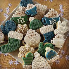 Christmas Sugar Cookies, Christmas Sweets, Christmas Goodies, Holiday Cookies, Holiday Treats, Fancy Cookies, Cute Cookies, Holiday Baking, Christmas Baking