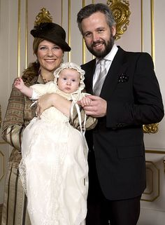 The christening of Emma Behn, daughter of Princess Martha Louise of Norway and husband Ari Behen. 2009