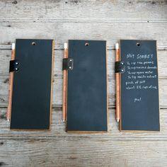 Trio of chalkboard tablets, $60