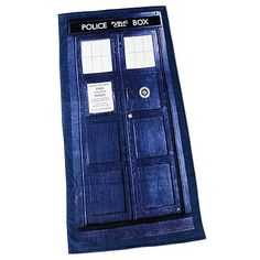 Definitely want this! Doctor Who TARDIS Beach Cotton Towel