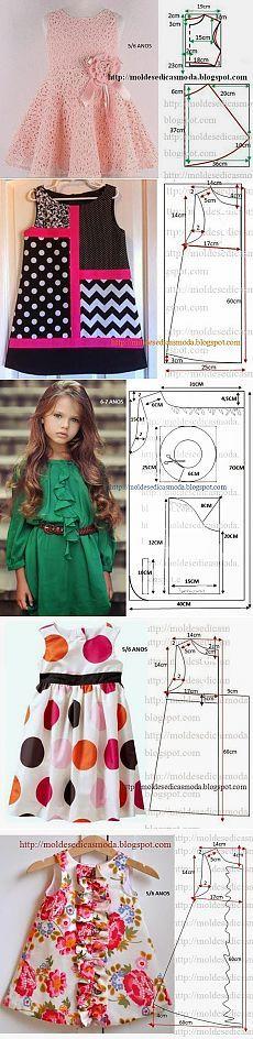 Sew the children themselves - 1 . Baby Girl Dress Patterns, Baby Clothes Patterns, Dress Sewing Patterns, Little Girl Dresses, Clothing Patterns, Skirt Patterns, Coat Patterns, Blouse Patterns, Sewing Clothes