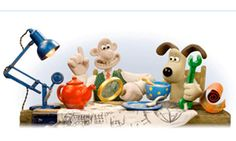 Wallce and Gromit Google Doodle