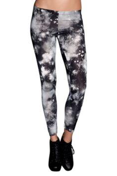 Hot Topic--Black Galaxy Leggings--$16.50