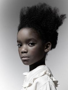♀ Woman portrait face of a black girl photography by Maxine Helfman