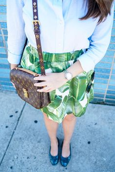 Alexandra Palm Print PARTYSKIRTS // Covering the Bases