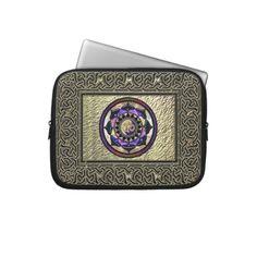 Celtic Knot Framed Moon Mandala Laptop Sleeve from Zazzle.com