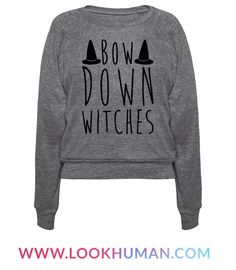 The baddest witch in town is back, so bow down witches! Have some fun this Halloween, cast a spell, ride a broom and be a real witch in this sassy and funny, halloween, witch, parody shirt!